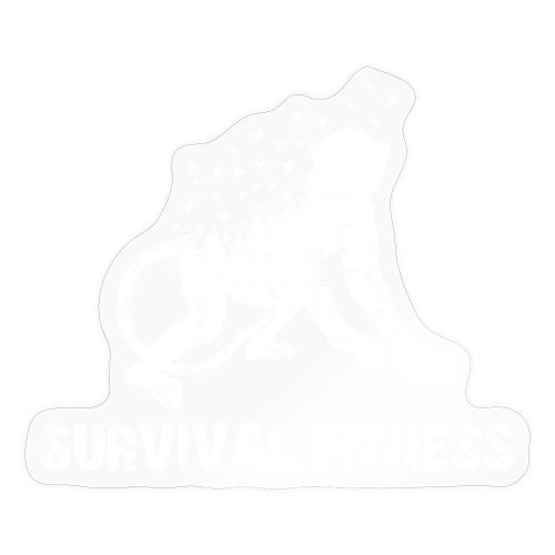 Survival Fitness Weiss - Sticker