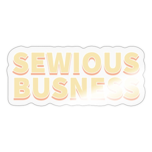 Sewious Busness Rød og Gul Logo - Sticker