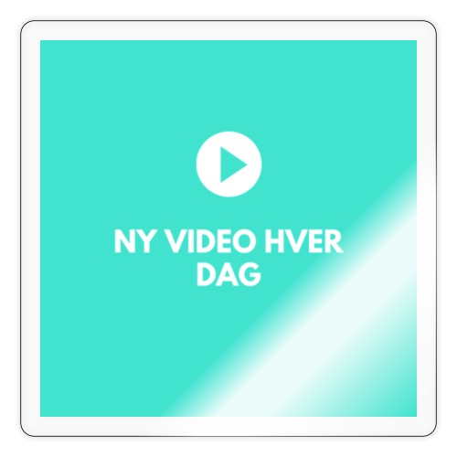 ny video hver dag - Sticker