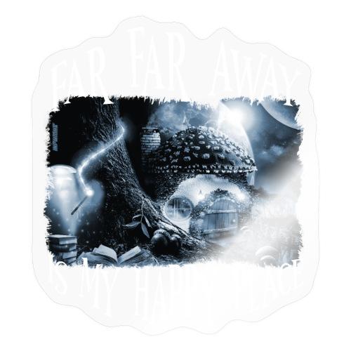 My Happy Place - Black & White - Sticker