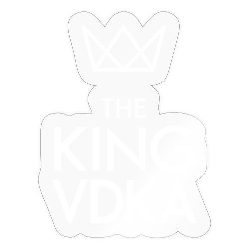 The King VDKA Logo weiss - Sticker