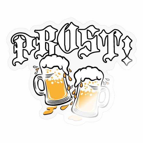 06 Zwei Mass Bier Spritzer Tropfen PROST - Sticker