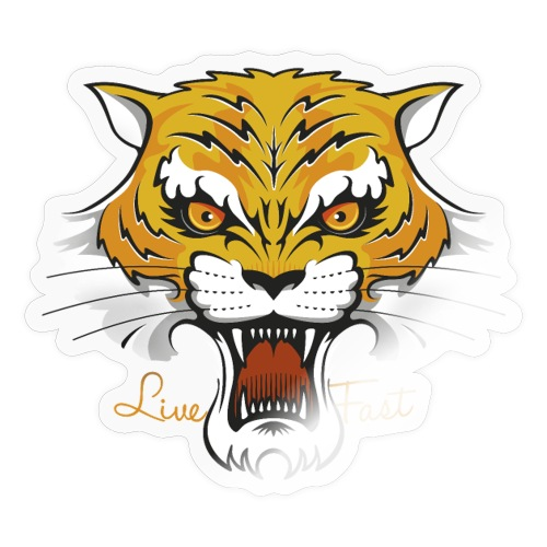 Tiger - Live Fast - Sticker