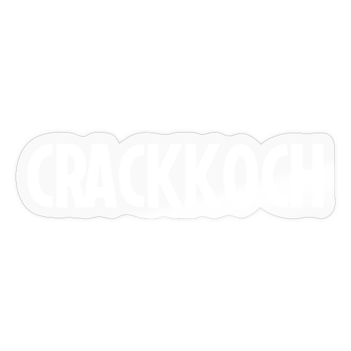 Crackkoch on black - Def Ill Merch - Sticker
