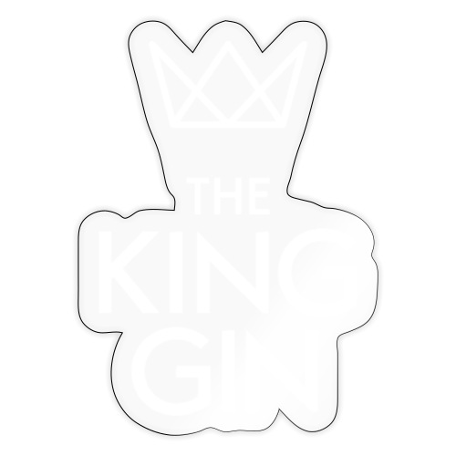 The King Gin Logo weiss - Sticker