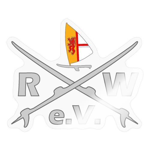 RWeV cross hellgrau - Sticker