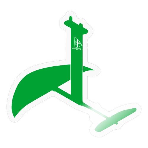 RWeV foil bw schlicht grün - Sticker