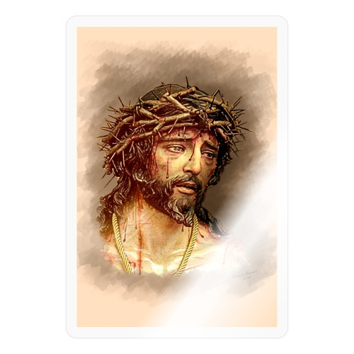 Jesus wearing a crown of thorns - Sticker