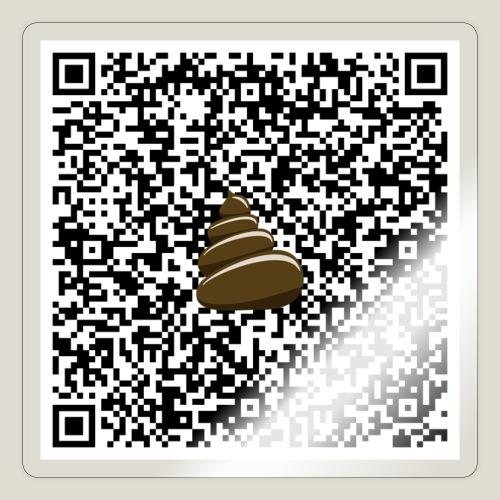 QR-kod bajshoroskop - Klistermärke