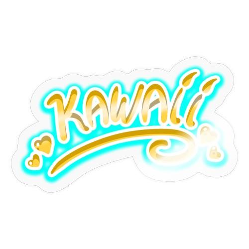 Kawaii Jaune et Bleu - Autocollant