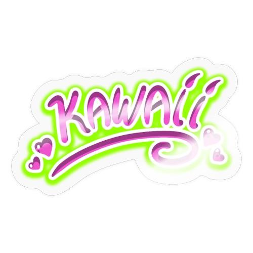 Kawaii Rose et Vert - Autocollant