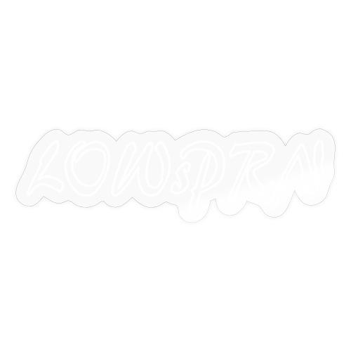 lowsprn weiss hohl 25px dick - Sticker