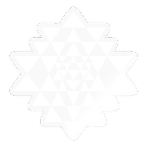 Valkoinen Shri Yantra -kuvio - Tarra