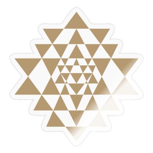 Ruskea Shri Yantra -kuvio - Tarra