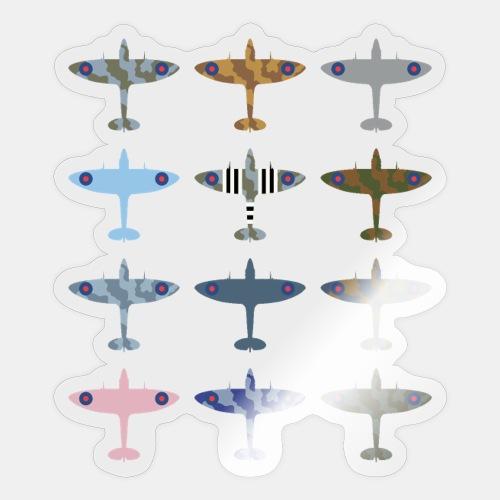 Spitfire fighter plane / camouflage pattern - Sticker