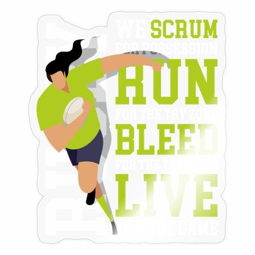 MarPlo Scrum Run Live whiteGreen W - Adesivo