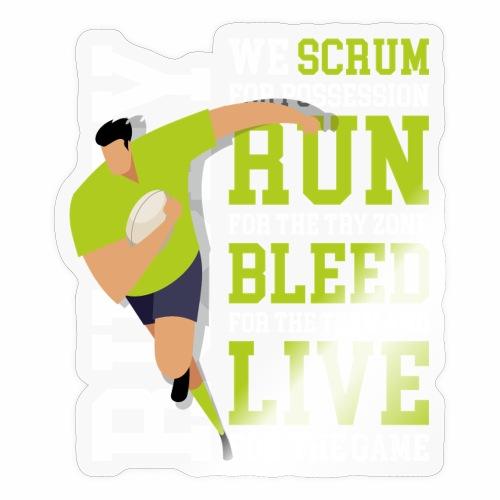 MarPlo Scrum Run Live whiteGreen - Adesivo