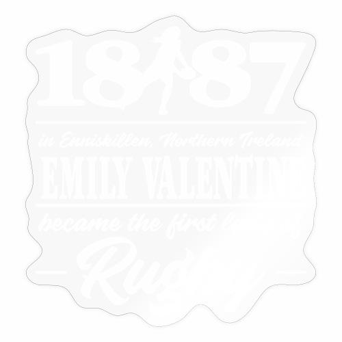 Marplo Emily Valentine white - Adesivo
