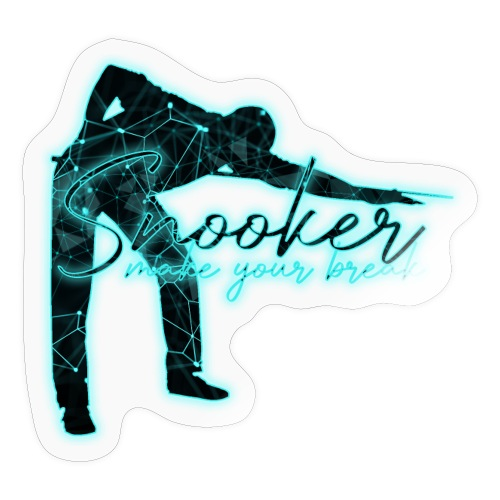 Snooker Neon make your break - Sticker