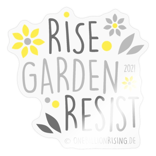 rise garden resist grau - Sticker