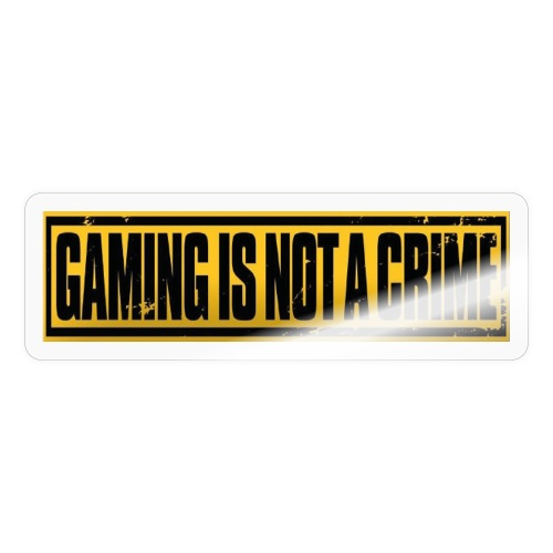 Gaming is not a crime - Sticker