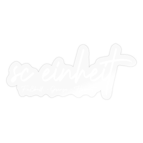 #fußballgrenzeheimat backprint - Sticker