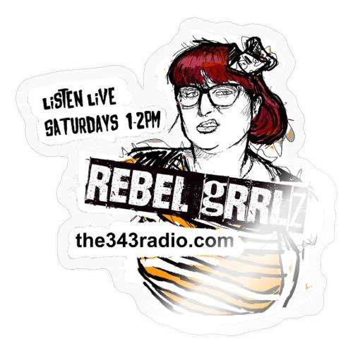 Rebel Grrlz: Sketch Design, 343 Radio (non profit) - Sticker