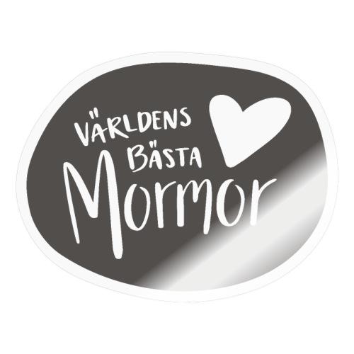 Världens bästa Mormor - B&W - Klistermärke