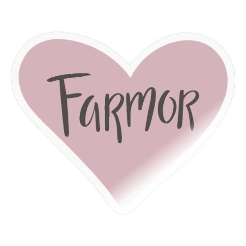 Farmor - hjärta - Klistermärke