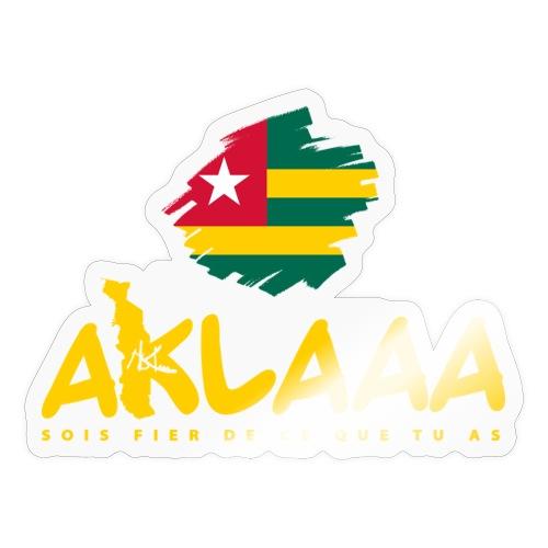 Aklaaa - Togo - Jaune - Autocollant