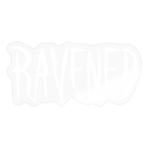 Ravened - White logo - Sticker