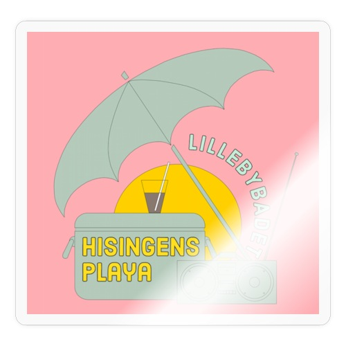 Hisingens playa pink - Klistermärke