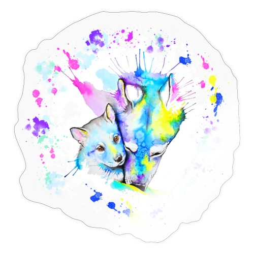 Loups - Autocollant