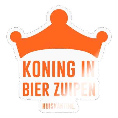Koning in bier zuipen - Sticker