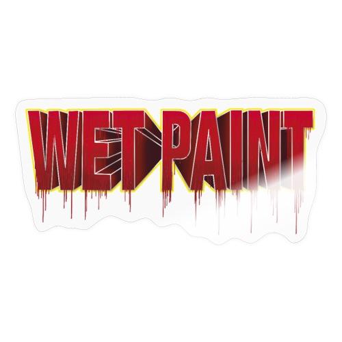 Wet Red Paint - Sticker