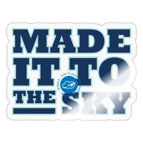 Made it to the sky (Dark blue) - Sticker