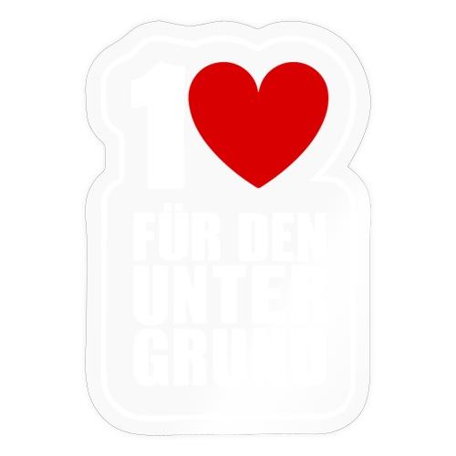 1 Herz für den Untergrund - Logo weiß - Sticker