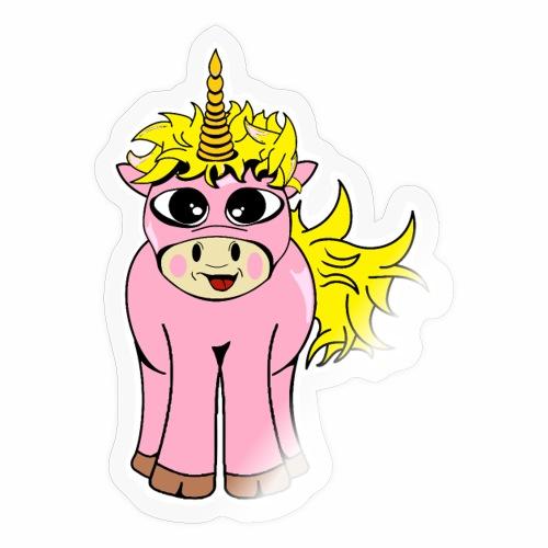 Unicorn female smile - Autocollant