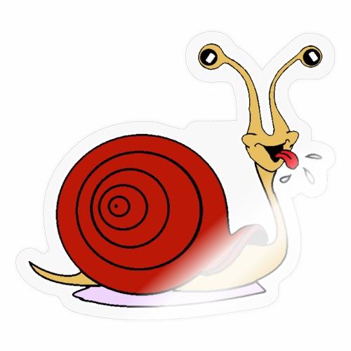 Escargot rigolo red version - Autocollant