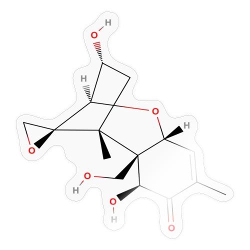 Vomitoxin Molecule - Colored Structural Formula - Sticker