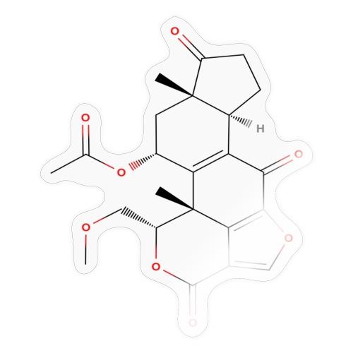 Wortmannin Molecule - Colored Structural Formula - Sticker