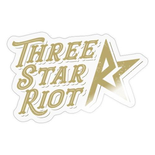 Three Star Riot logo väri - Tarra