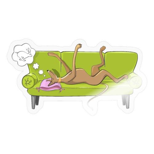 GreyhoundSofa - Klistermärke