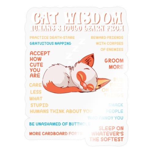 CAT WISDOM - Autocollant