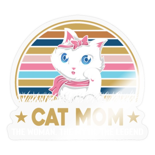 CAT MOM - Autocollant