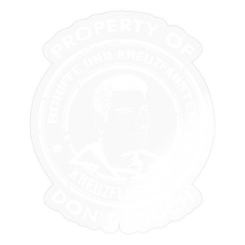 Property of your Highness RUND Black WHITE - Sticker