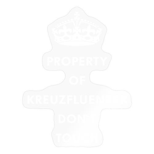Kreuzfluenzer Don´t Touch WHITE - Sticker