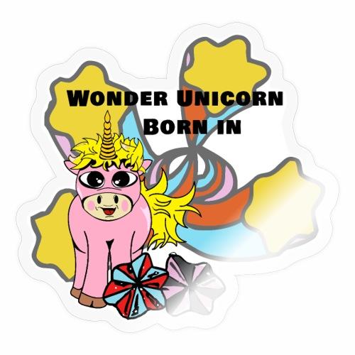Merveilleuse Licorne née (pour fille) - Autocollant