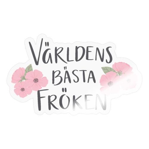 Världens bästa fröken - blommor - Klistermärke
