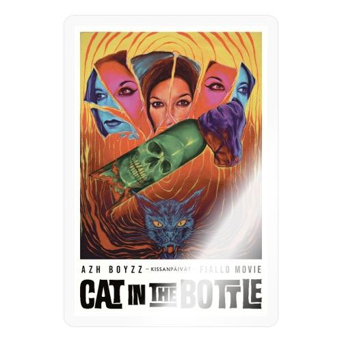 Cat in the Bottle / Kissanpäivät - COLOR (1 print) - Tarra